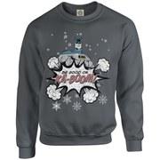 DC Originals Christmas Batman Be Good or Kaboom Kids Sweatshirt - Charcoal