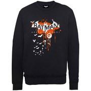DC Comics Batman Arkham Knight Halloween Logo Art Sweatshirt - Black