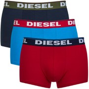 Diesel Men's Shawn 3 Pack Boxers - Navy/Red/Blue