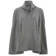 UGG Australia Women's Pichot Lightweight Double Knitted Fleece Poncho - Charcoal Heather