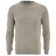 Kensington Eastside Men's Ralph Crew Neck Jumper - Stone