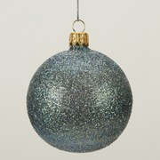 Gisela Graham Glitter Bauble - Peacock