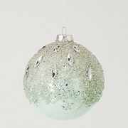 Gisela Graham Glass Bauble - Pale Blue