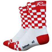 DeFeet Aireator Checkmate Socks - White/Red