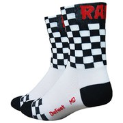 DeFeet Aireator Checkmate Socks - White/Black