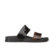 Melissa Women's Cosmic 15 Double Strap Slide Sandals - Black Tortoiseshell
