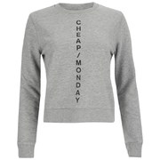 Cheap Monday Women's Diagonal Logo Win Sweatshirt - Grey