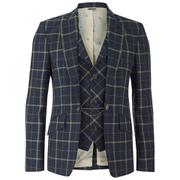 Vivienne Westwood MAN Men's Tea Wool Tartan Waiscoat Jacket - Navy