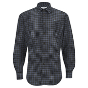 Vivienne Westwood MAN Men's Biscuit Shirting Classic Cut Away Shirt - Blue