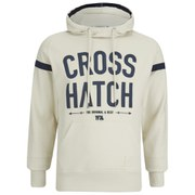 Crosshatch Men's Chassis Print Hoody - Vaporous Grey