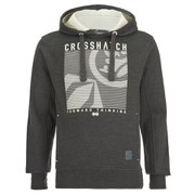 Crosshatch Men's Lambent Graphic Hoody - Charcoal Marl