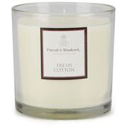 Purcell & Woodcock Large Glass Candle - Fresh Cotton