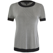 rag & bone Women's Leila Crew Top - Black
