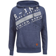 Smith & Jones Men's Silverton Hoody - Twilight Blue Marl