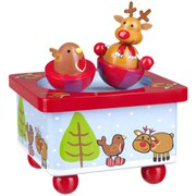 Orange Tree Toys Reindeer & Robin Music Box