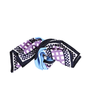 KENZO Women's Double Print Silk Cactus Scarf - Deep Blue
