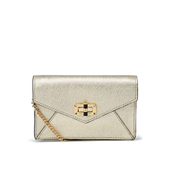 Diane von Furstenberg Women's Gallery Bitsy Small Leather Cross Body Bag - Metallic Gold