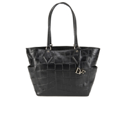 Diane von Furstenberg Women's Voyage BFF Croc Leather Tote Bag - Black