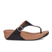 FitFlop Women's The Skinny Leather Toe Post Sandals - All Black