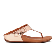 FitFlop Women's Gladdie Metallic Toe-Post Sandals - Rose Gold