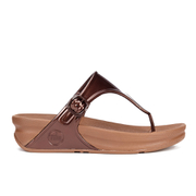 FitFlop Women's Superjelly Toe Post Sandals - Bronze