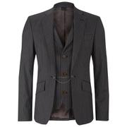Vivienne Westwood MAN Men's Striped Waistcoat Jacket - Grey Stripe