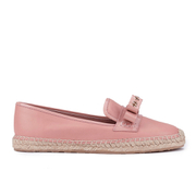 REDValentino Women's Eyelet Bow Leather Espadrilles - Nude