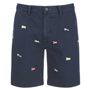 Polo Ralph Lauren Men's Hudson Patterned Slim Shorts - Navy