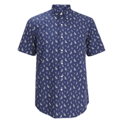 Polo Ralph Lauren Men's Printed Short Sleeve Shirt - Blue