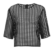 Finders Keepers Women's New Line Top - Lattice Black