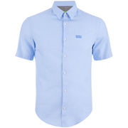 BOSS Green Men's C-Busterino Short Sleeve Shirt - Sky