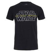 Star Wars Men's Force Awakens Logo T-Shirt - Black