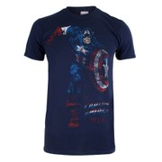 Marvel Men's Captain America T-Shirt - Navy