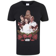 Star Wars Men's Luke & Leia Christmas Carols T-Shirt - Black