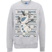 Disney Frozen Christmas Olaf Smile Sweatshirt -  Heather Grey