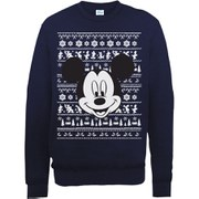 Disney Mickey Mouse Christmas Mickey Head Sweatshirt -  Navy
