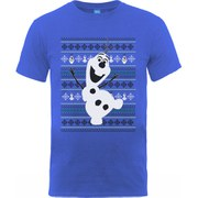 Disney Frozen Men's Christmas Olaf Dance T-Shirt - Royal Blue