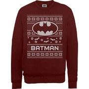 DC Comics Batman Christmas Sweatshirt - Maroon