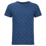 Universal Works Men's Cross Jersey Print T-Shirt - Blue