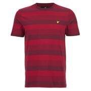 Lyle & Scott Vintage Men's Winter Stripe T-Shirt - Claret