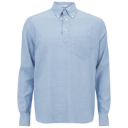 GANT Rugger Men's Half Button Pullover Long Sleeve Shirt - Light Blue