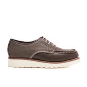 Grenson Men's Ricky Suede/Canvas Shoes - Ebony/Dark Grey