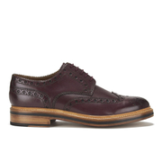 Grenson Men's Archie Leather Brogues - Burgundy