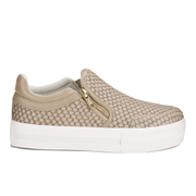 Ash Women's Jordy Puff/Nappa Wax Flatform Slip-on Trainers - Taupe
