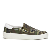 Ash Women's Nikita Canvas Slip-on Trainers - Army White/Army