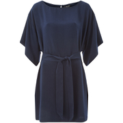 VILA Women's Macu Tie Dress - Total Eclipse