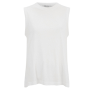 T by Alexander Wang Women's Viscose Jersey High Neck Flared Tank Top - White