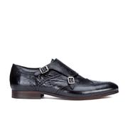 H Shoes by Hudson Men's Castleton Leather Monk Shoes - Black