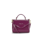 Lulu Guinness Women's Izzy Mini Polished Grab Tote Bag - Magenta