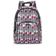 Lulu Guinness Women's Lipstick Print Foldaway Backpack - White/Black